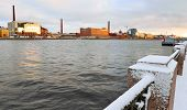 Embankment Of River Neva In The Winter