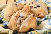 Blueberry Scones With Icing