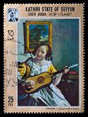 Young Girl With A Guitar