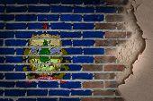 Dark Brick Wall With Plaster - Vermont