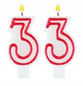 Birthday Candles Number Thirty