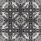 Monochrome ornament. Seamless stylized ornamental background of black color.