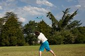 Boy Throws Model Glider
