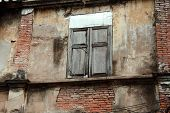 Old window at ancient building