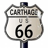 Carthage Route 66 Highway Sign
