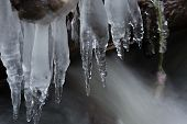 Icicles On The Water.