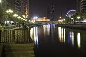 SHARJAH, UNITED ARAB EMIRATES - DECEMBER 19, 2014: Photo of Channel Al Qasba.