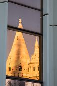 Reflection of Fisherman Bastion in Budapest, Hungary