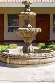 Stone Fountain From An Indoor Garden