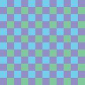 Blue, purple and green checkered seamless background