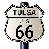 Tulsa Route 66 Highway Sign
