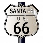 Santa Fe Route 66 Highway Sign