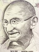 picture of lithographic  - Great Mahatma Gandhi on Indian Currency Note - JPG