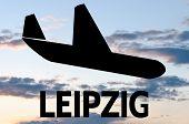 stock photo of leipzig  - Airplane icon  - JPG
