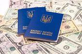stock photo of passport cover  - Ukrainian passport - JPG