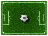 stock photo of football pitch  - 3d Football  - JPG
