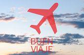 pic of bon voyage  - Airplane icon  - JPG