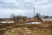 picture of backwoods  - At some distance from civilization even spring is not so cheerful