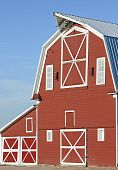 Traditional red wooden barn