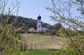 pic of bavaria  - The church of Wiefelsdorf next to Schwandorf in bavaria on a sunny day in spring - JPG