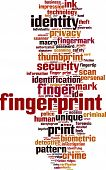 pic of fingerprint  - Fingerprint word cloud concept - JPG