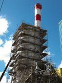 picture of chimney  - construction of the chimney and the chimney before your install desulfurization - JPG