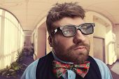 picture of nerd  - Strange nerd  - JPG