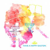 pic of golgotha  - colorful abstract backgroundcolorful abstract background includes happy easter words - JPG