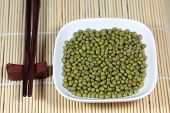 picture of mung beans  - A macro photograph of fresh mung beans - JPG