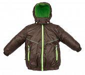 stock photo of jupe  - Winter warm jacket isolated on white background - JPG