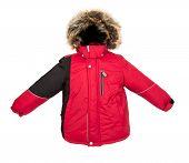 image of jupe  - Winter warm jacket isolated on white background - JPG