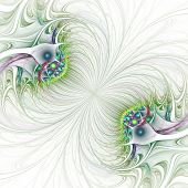 stock photo of trippy  - Nice abstract fractal wallpaper on white background - JPG