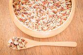 stock photo of whole-grain  - Multi whole grain of organic jusmine rice - JPG