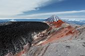 stock photo of magma  - Summer volcanic landscape - JPG