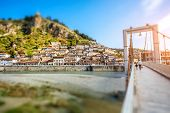 image of albania  - Historic city of Berat in Albania - JPG