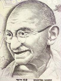 picture of gandhi  - Great Mahatma Gandhi on Indian Currency Note - JPG