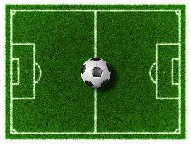 picture of football pitch  - 3d Football  - JPG