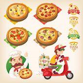 Постер, плакат: Pizza Set