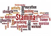 Stamina Is Staying Power Or Enduring Strength, Word Cloud 2 poster
