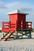 Red Lifeguard Shack