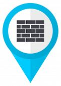 Firewall blue pointer icon poster