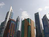 Dubai, Uae - 2/11/2011: Skyscraper Buildings Downtown In Dubai