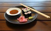 Tasty Japanese Sea Food On A Plate
