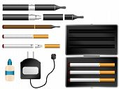 foto of electronic cigarette  - Vector  - JPG