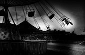 Carousel In Analogue Black And White Art Photography