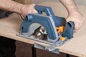 Carpenter With Circular Saw