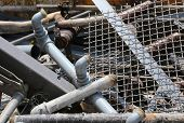 Iron Pipes In The Landfill Of Recyclable Material poster