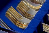 Gold Forks Stacked