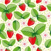 Seamless sweet strawberry background.