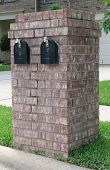Neighborhood Brick Double Mailbox